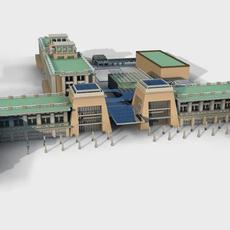 Architecture 347 Hotel Building 3D Model