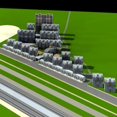 Architecture 352 multilayer Residential Building 3D Model