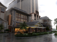 Architecture 354 Hotel Building 3D Model