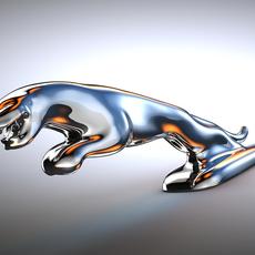 Jaguar logo 3D Model