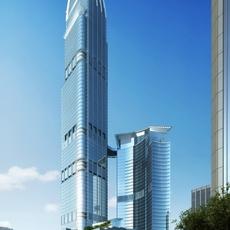 Architecture 026  -Office Skyscraper building 3D Model