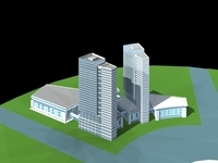 Architecture 361 office Building 3D Model