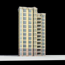 Architecture 362 multilayer Residential Building 3D Model