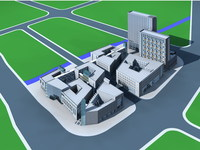 Architecture 363 office Building 3D Model