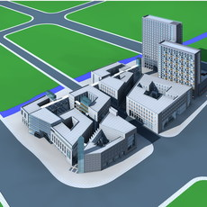 Architecture 363 office Building 3D Model