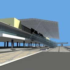 Architecture 363 Station Building 3D Model
