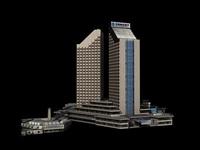 Architecture 368 Hotel Building 3D Model