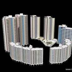 Architecture 370 High Rise Residential Building 3D Model