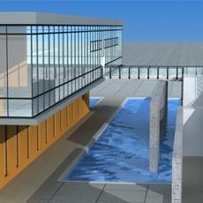 Architecture 371 office Building 3D Model