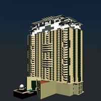 Architecture 372 High Rise Residential Building 3D Model