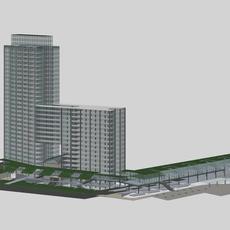 Architecture 377 office Building 3D Model