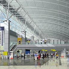 Airport Terminal Lobby 003 3D Model