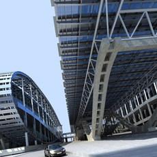 Architecture 404 Station Building 3D Model
