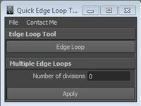 Quick Edge Loop Tool 1.0.0 for Maya (maya script)
