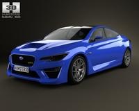 Subaru WRX 2013 3D Model