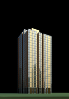 Architecture 445 High Rise Residential Building 3D Model