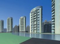 Architecture 448 High Rise Residential Building 3D Model