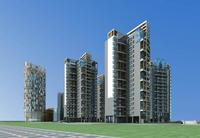 Architecture 456 High Rise Residential Building 3D Model