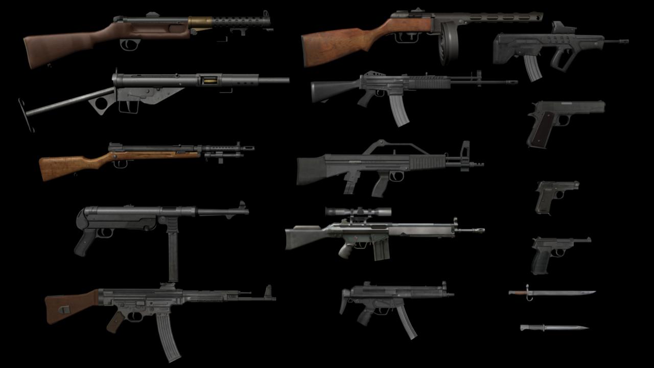 Guns Pack Free 3d Model
