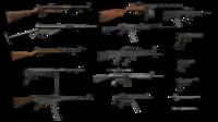 Guns Pack ( Free ) 3D Model