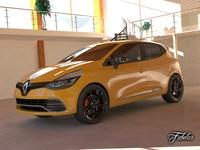 Renault Clio RS 2013 std mat 3D Model