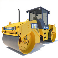 Road Roller Vibrating Compactor CB534D 3D Model