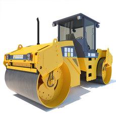 Road Roller Vibrating Compactor CB534D 3D Model