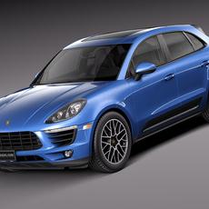 Porsche Macan S 2015 3D Model