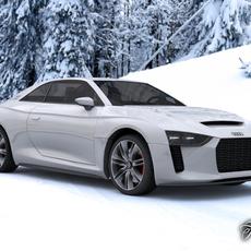 Audi Quattro concept 3D Model