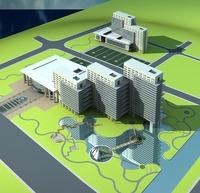 Architecture 481 office Building 3D Model