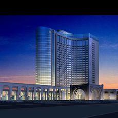 Architecture 497 Hotel Building 3D Model