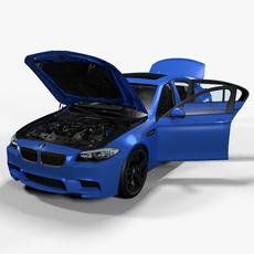 BMW M5 F10 2012 3D Model