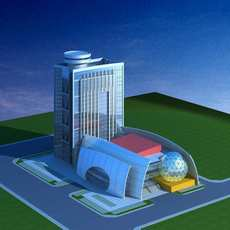 Architecture 517 Hotel Building 3D Model