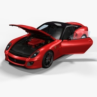 Ferrari 599 GTO 2011 3D Model