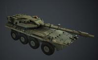 Centauro 8x8 lowpoly Tank 3D Model