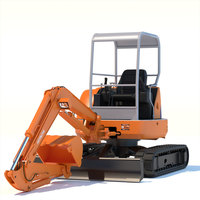 Mini Excavator Hitachi EX50U 3D Model