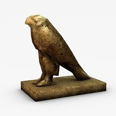 Low poly Horus statue 3D Model