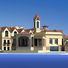 Architecture 522 multilayer Residential Building 3D Model