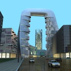 Architecture 528 office Building 3D Model