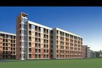 Architecture 533 School Building 3D Model