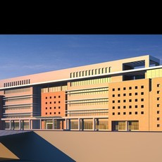 Architecture 535 office Building 3D Model