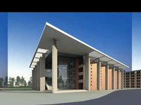 Architecture 537 School Building 3D Model