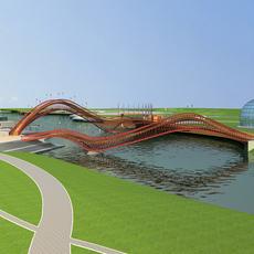 Architecture 544 Bridge Building 3D Model