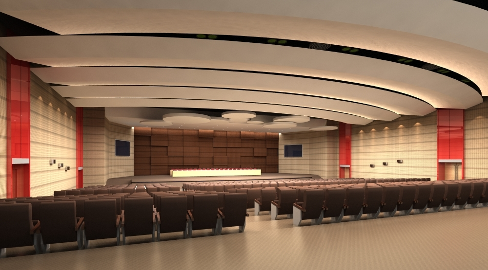 Auditorium room 006 3d model for Room design 3ds max