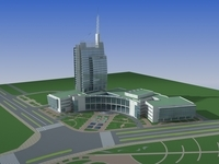 Architecture 569 office Building 3D Model