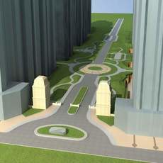Architecture 575 Street 3D Model