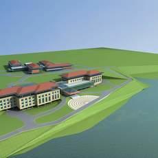 Architecture 577 Hotel Building 3D Model
