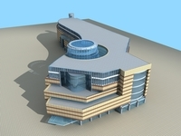 Architecture 586 office Building 3D Model
