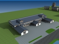 Architecture 587 Hotel Building 3D Model