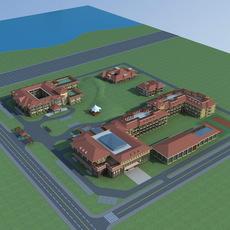 Architecture 592 Hotel Building 3D Model
